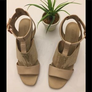 Ellen Tracy🌷Cream Sandal Heels Sz7.5